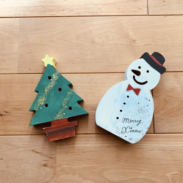 かわいいクリスマスインテリア♡卓上サイズの木製ツリー