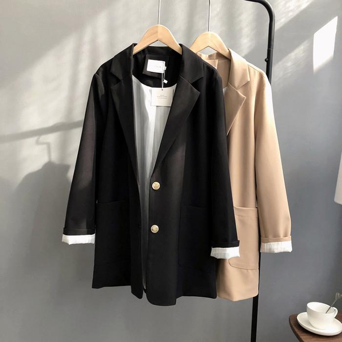 テーラードジャケット 通勤服 きちんと感 ゆるめ オフィスカジュアル 2色/