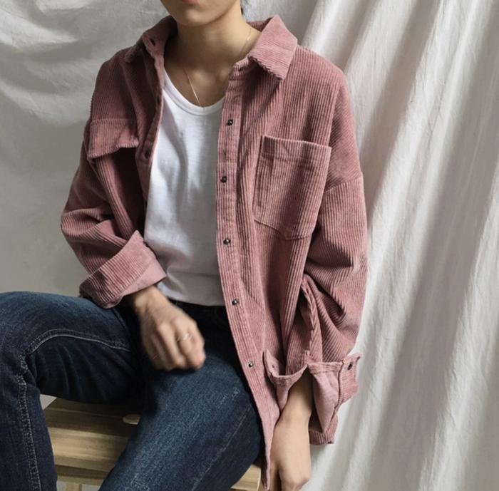 春にも是非着たい♡コーデュロイシャツジャケット!