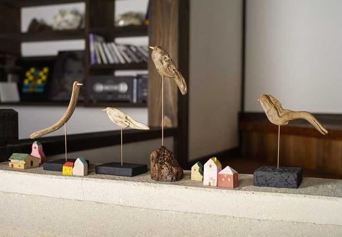 流木を使ったアート!自然がつくる鳥モチーフの置き物