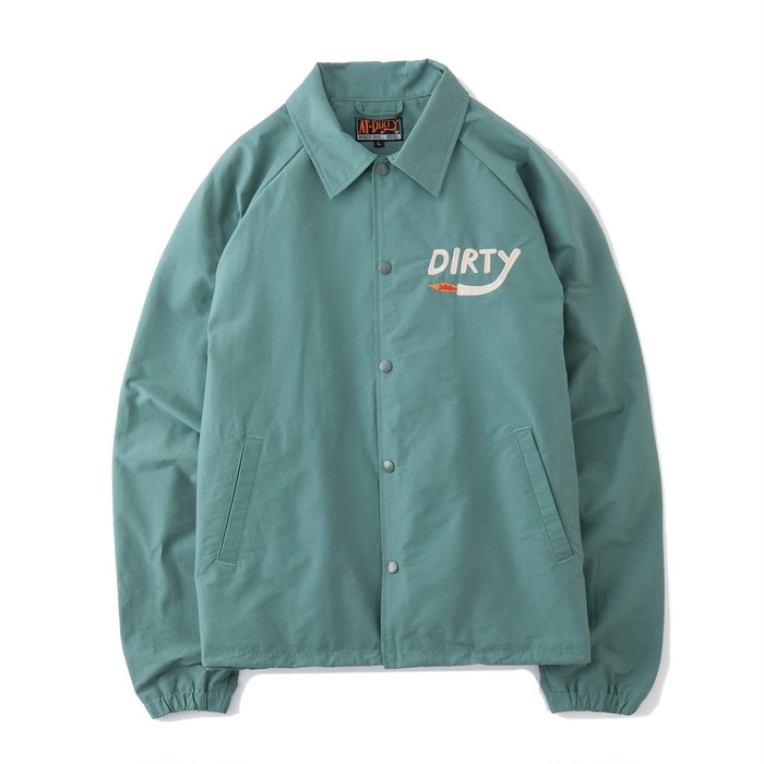 AT-DIRTY / DIRTY FIRE COACH JACKET (MINT)