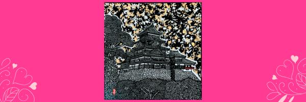 【切り絵】松本城とエーデルワイス 華やかさとシックさを持ち合わせた切り絵をお部屋に飾ってみませんか。