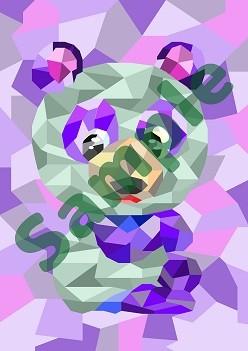 パンダのイラストを待受画像に・・・ いかがですか?