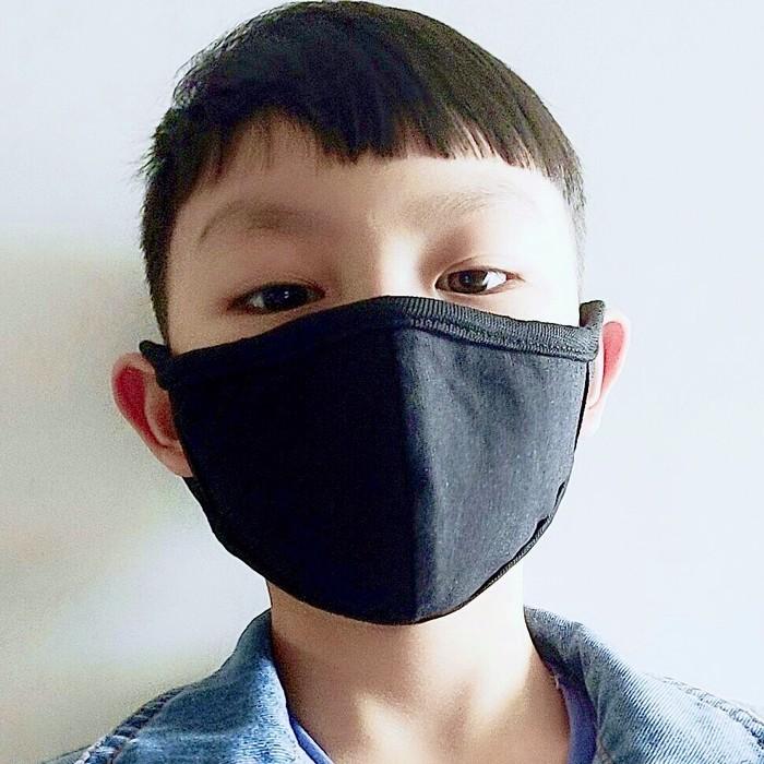 子供〜大人(小さ目サイズ)肌に優しいコットンマスク【390円税込】ブラック