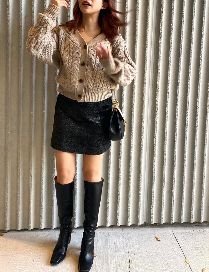 【冬のミニスカ × ロングブーツ】年中着れて着回し抜群!