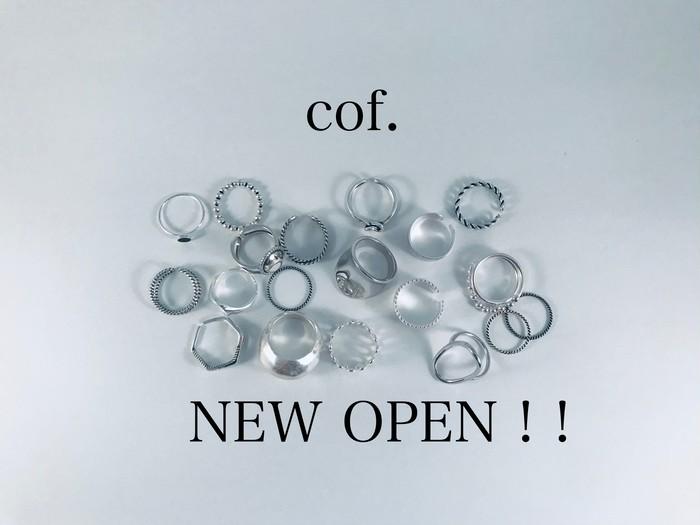 シルバーアクセサリーブランド『cof.』NEW OPEN ! !