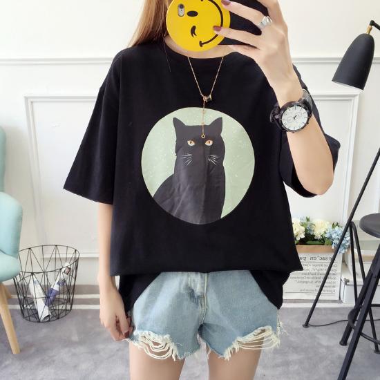 猫好き必見!黒猫がとっても可愛いオーバーサイズTシャツ