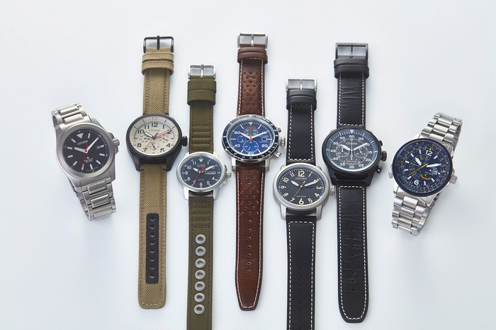 【珍しい腕時計】アメリカ海軍ブルーエンジェルズ公認モデル!!CITIZEN BJ7006-56L