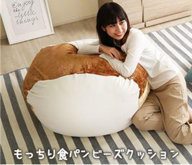 大きい食パン見つけちゃいました!もっちもち食パンビーズクッション
