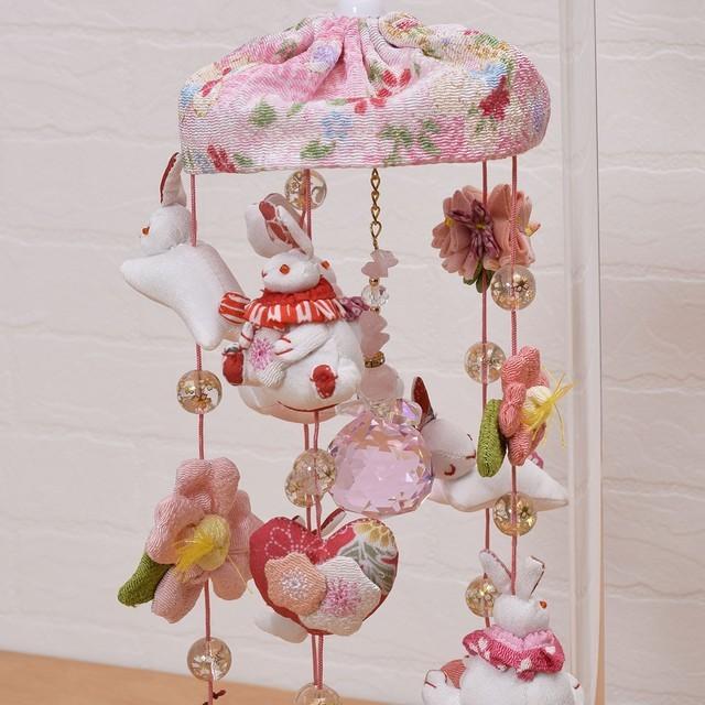 かわいいうさぎがいっぱいの、卓上サイズのコンパクトな吊るし飾り。