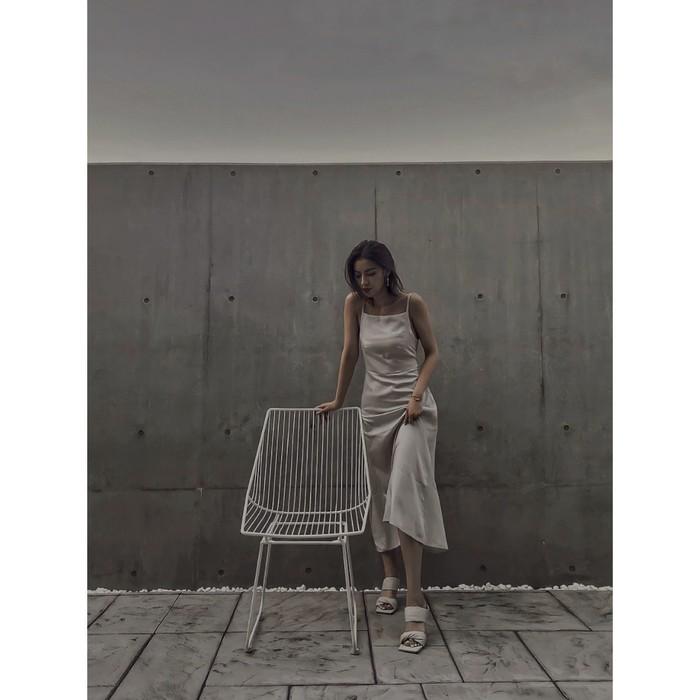 韓国ファッション通販 インフルエンサーコラボのロングドレス発売☑︎
