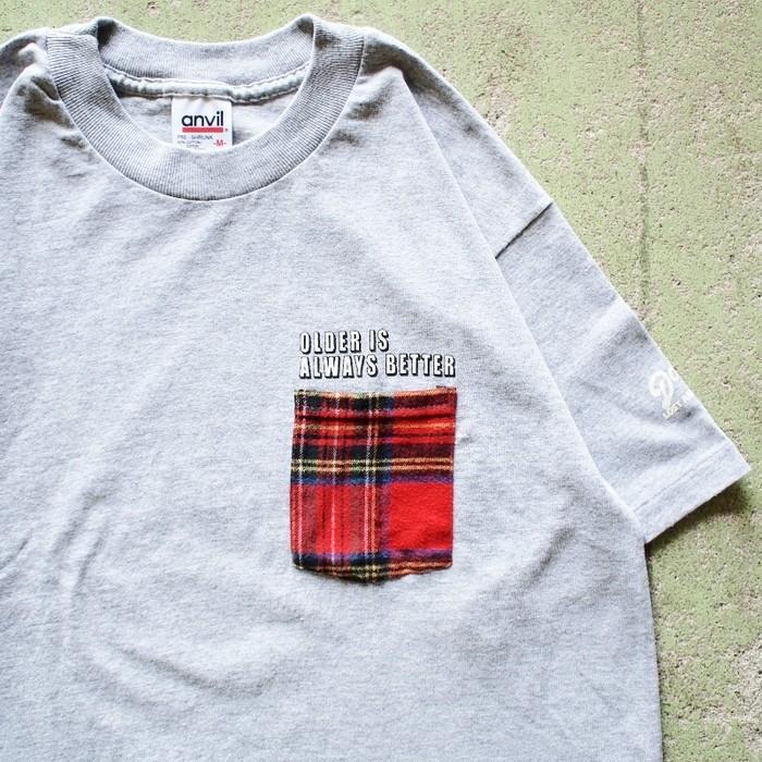 USA製LLビーンのネルシャツを解体。リメイクポケットTeeのご紹介です!