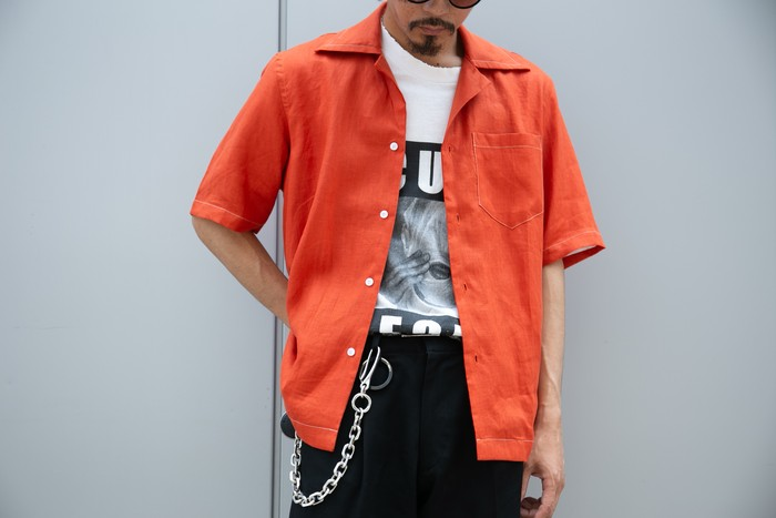 シャツ特集 この夏爽やかに、差し色としても、LINEN OPEN COLOR S/S SHIRT