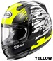 ARAI RAPIDE IR SPLASH yellow