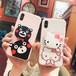 オリジナル iphoneX カバー 立体 可愛い くまモン ハローキティ iphone7plusケース おしゃれ アイフォン6sカバー ブラケット付き 芸能人愛用 カップル