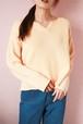 pastel orange side button knit