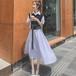 【dress】エレガント気質満点セットアップ人気デザイン高級感 合わせやすい  M-0291