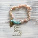 ◆SALE ¥1,000◆ Power Stone Bracelet -Pink Opal&Turquoise-