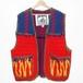 『G-FORCE』 90s vintage panel knitted Vest
