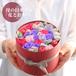 【ギフト】花とおやつ:プリザ(赤ボックス)【誕生日/記念日/母の日など】