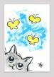 春が来た(手描きポストカード)