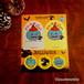 【期間限定】ハロウィンセット★「青いカボチャシール」、バッジ、キーホルダー【お荷物サイズ15】