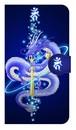 【鏡付き Mサイズ】叡智と心願成就の青龍 倶利伽羅龍王 Blue Dragon of Wisdom 手帳型スマホケース
