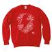 avenomix / THUNDER EMBLEM PAISLEY CREWNECK SWEAT RED