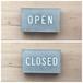 OPEN & CLOSED 置き型 サイン type-B<受注生産>