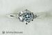 プラチナ婚約指輪 6ポイント2サイドダイヤモンドエンゲージ