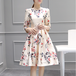 【ワンピース】綺麗めシルエットエレガント花柄デートワンピース18146573