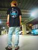 UTNY ポケットTシャツ BLACK