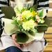 【送料無料】カーネーションと季節のお花のブーケ・花束(生花)(黄色系) FL-MD-215