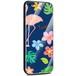 Jenny Desse Samsung Galaxy S8 ケース カバー 背面強化ガラスケース  背面ガラスフィルム シリコンハイブリッドケース 対応 sim free 対応 トロピカル・ネイビー