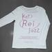 key Rei jazz T-shirts 長袖 白×ピンクラメ