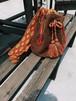 Dead stock Columbia handmade brown fringe shoulder bag ( 未使用 コロンビア ブラウン フリンジ ショルダー バッグ