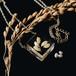 新米入荷 パール&ライスのネックレス 14kgf(お米, 淡水パール, レジン, 送料無料)
