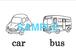 Transportation 絵+英単語 フラッシュカードデータ(白黒)