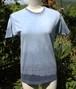 草木染、ベンガラ藍染め、綿Tシャツ 女性用xsサイズ(ムラ有り。セール価格)