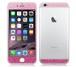 iPhone6、iPhone6Plus用 両面カスタムデザイン液晶フィルムシール(ラメピンク)