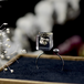 【10月誕生石カラー オパール】パイライトとスワロフスキーのフォークリング 選べる誕生石カラー(無料ギフトラッピング, メッセージカード, 誕生日プレゼント)