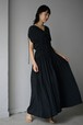 LOKITHO / GATHERED DRAPE DRESS (black)