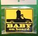 BABY ON  BOARD ステッカー ミニトラック  送料無料