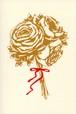 ラナンキュラスとヒペリカムのミニブーケ(ポストカード)