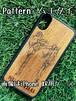Type-A  スマホケース 木製 天然木 チーク材 おしゃれ iPhone android エスニック アジア タイ 一点物 個性 ウッド 男女兼用 ユニバーサルデザイン Pattern:ムエタイ