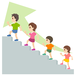 階段 ステップ 家族 子供