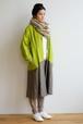 CUBY LINEN coat -キミドリ × カーキ-