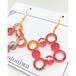 Shower Dot × Acrylic《和柄布入り紅紫黄金》 ピアス or イヤリング