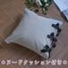 【カバー+ヌードクッション】 canvas chambray クッションセット ribbon SQ