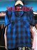 S/Sシャツ オンブレチェック ブルー